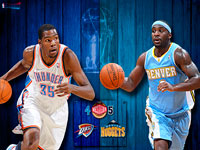 Thunder vs Nuggets 2011 NBA Playoffs Widescreen Wallpaper