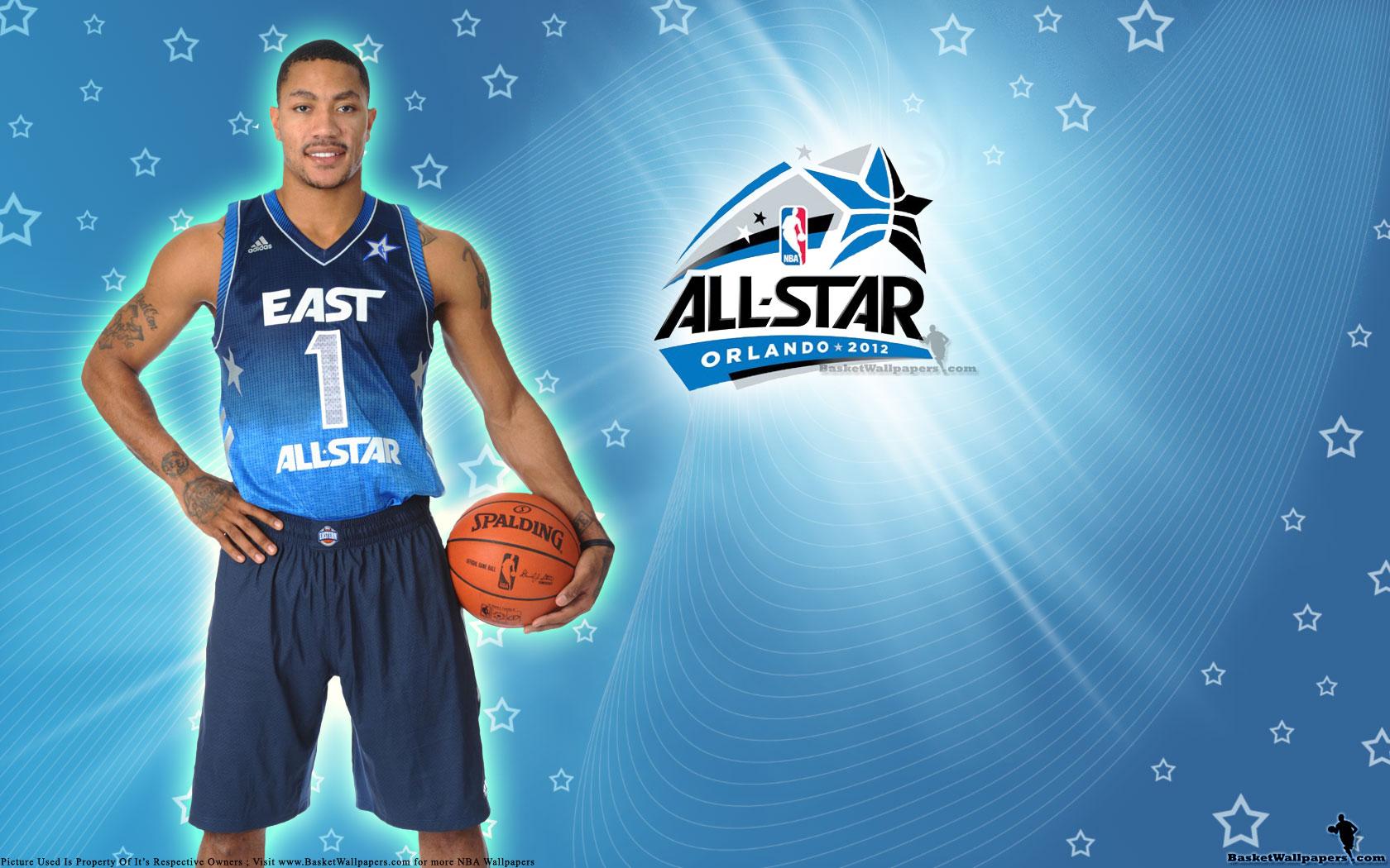 2012 Nba All Star Derrick Rose Wallpaper Basketball