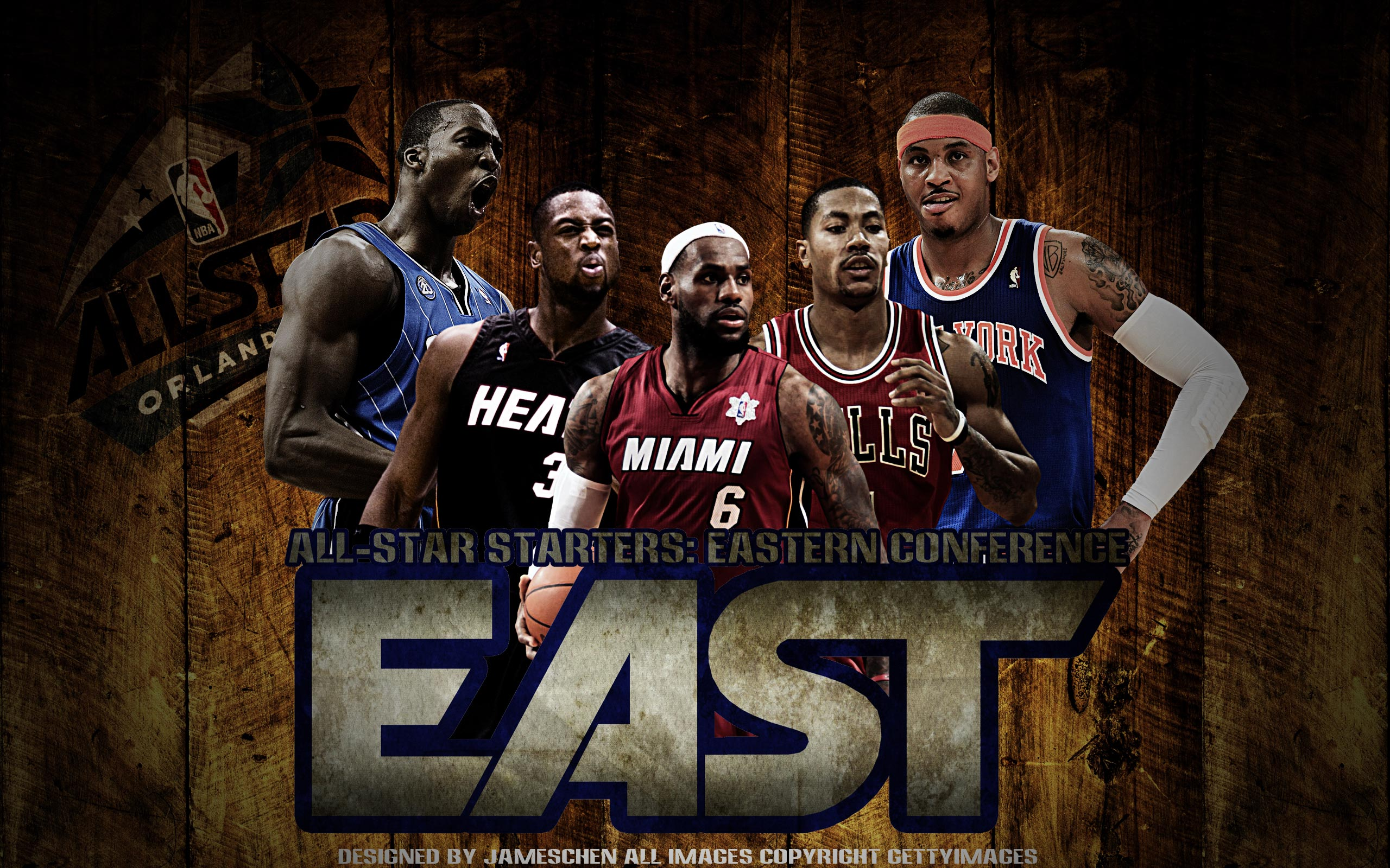 2012 NBA All-Star East Starters 2560x1600 Wallpaper