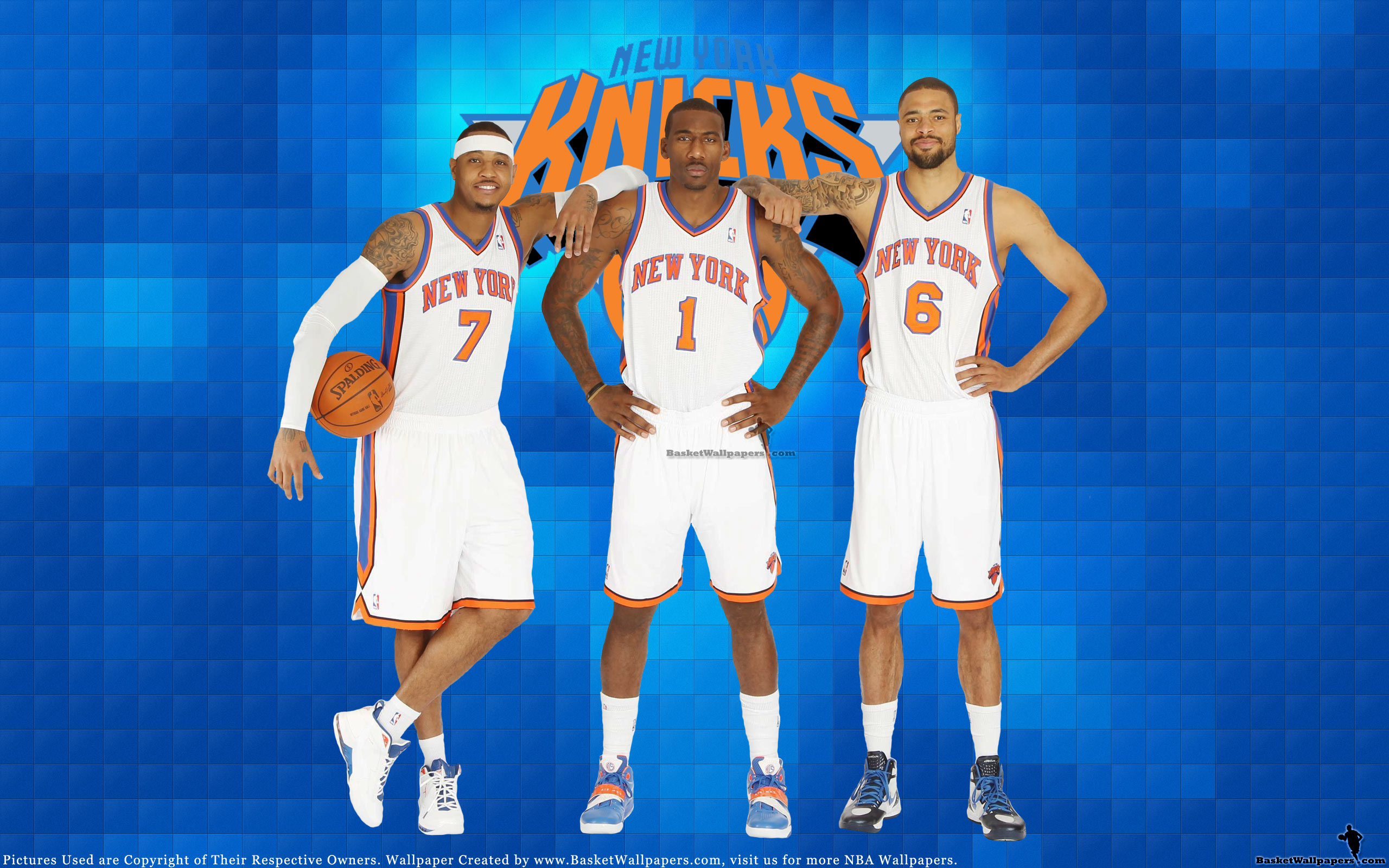 Melo Amare Chandler Knicks 2012 Wallpaper Basketball Wallpapers