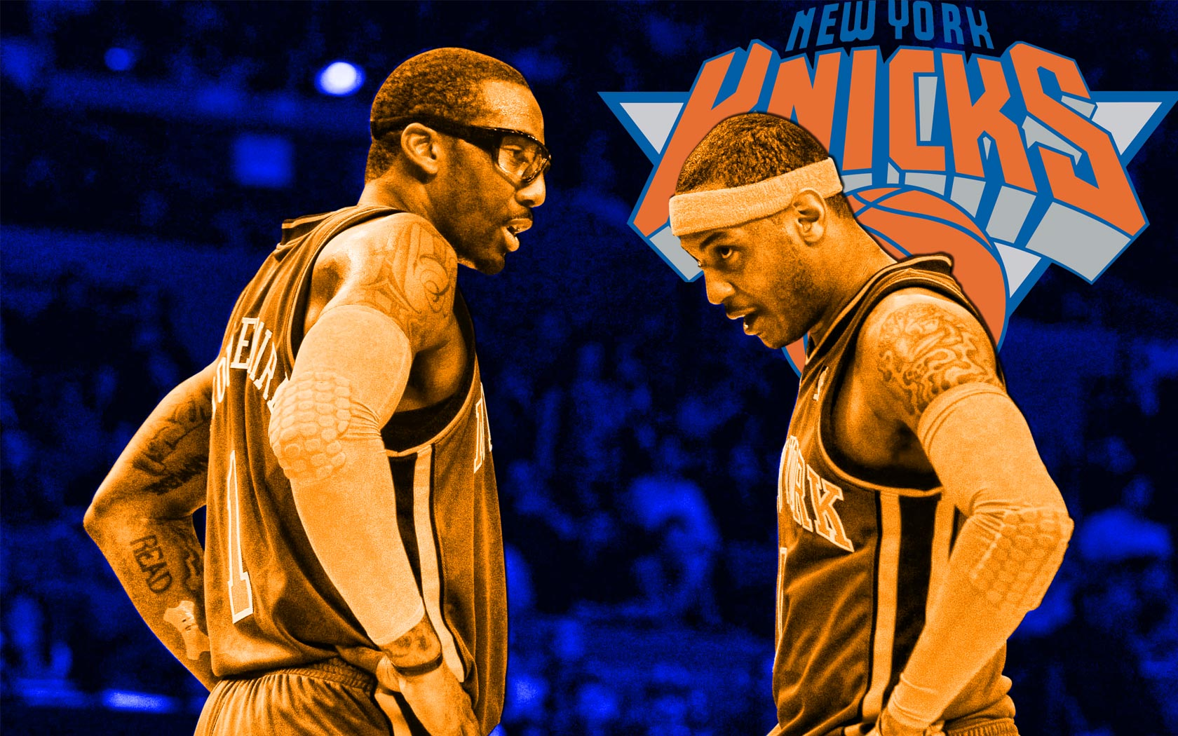 wallpaper of Amare Stoudemire and Carmelo Anthony in New York KNICKS ...