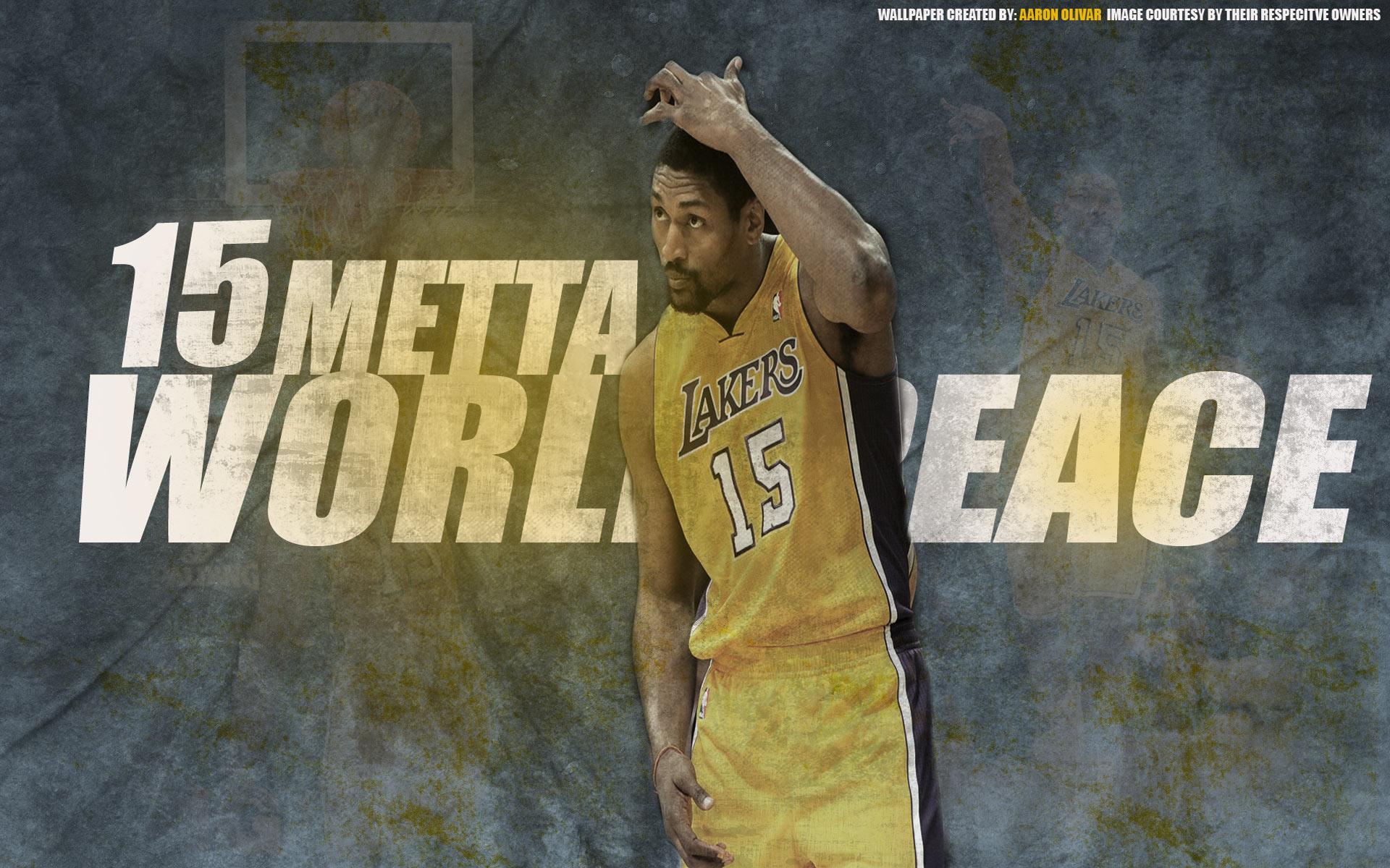 Metta World Peace Lakers 1920x1200 Wallpaper