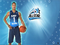 2012 NBA All-Star Derrick Rose Wallpaper