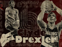 Clyde Drexler Blazers 1680x1050 Wallpaper