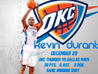 Kevin Durant vs Mavs 3pt Winner Shot Wallpaper