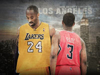 Kobe Bryant vs Chris Paul 1920x1200 wallpaper