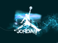 Michael Jordan Air Logo Widescreen Wallpaper