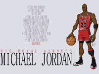 Michael Jordan Career Records Widescreen Wallpaper