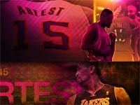 Ron Artest Rockets-Lakers Widescreen Wallpaper