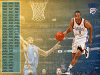 Russell Westbrook Thunder 2012 Schedule Wallpaper
