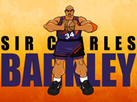 Sir Charles Barkley Drawn Widescreen Wallpaper