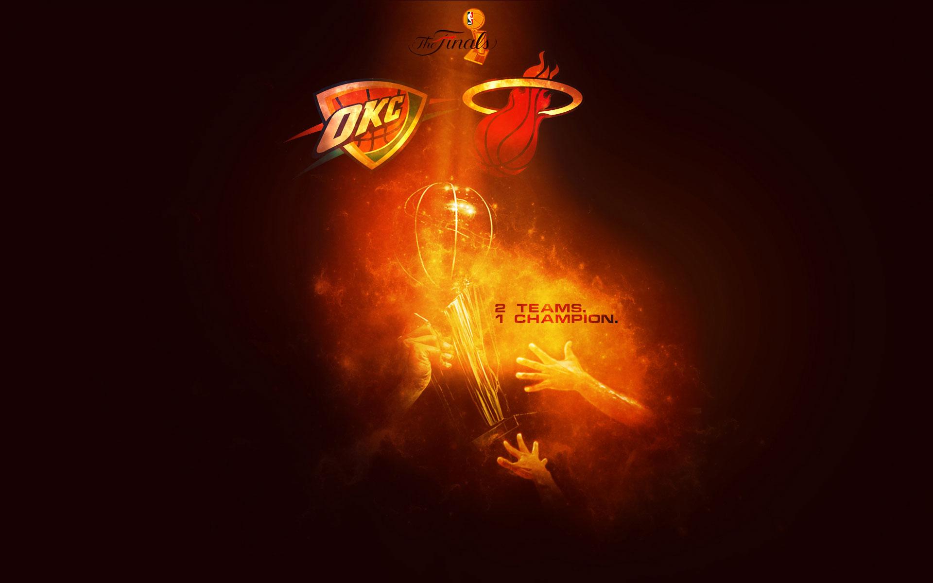 2012 NBA Finals 2 Teams 1 Champion Wallpaper