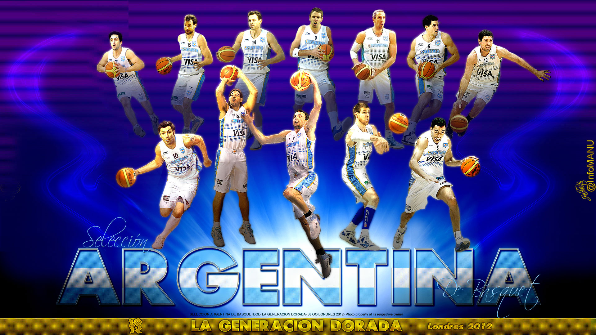 Argentina Basketball Team London 2012 1920x1080 Wallpaper