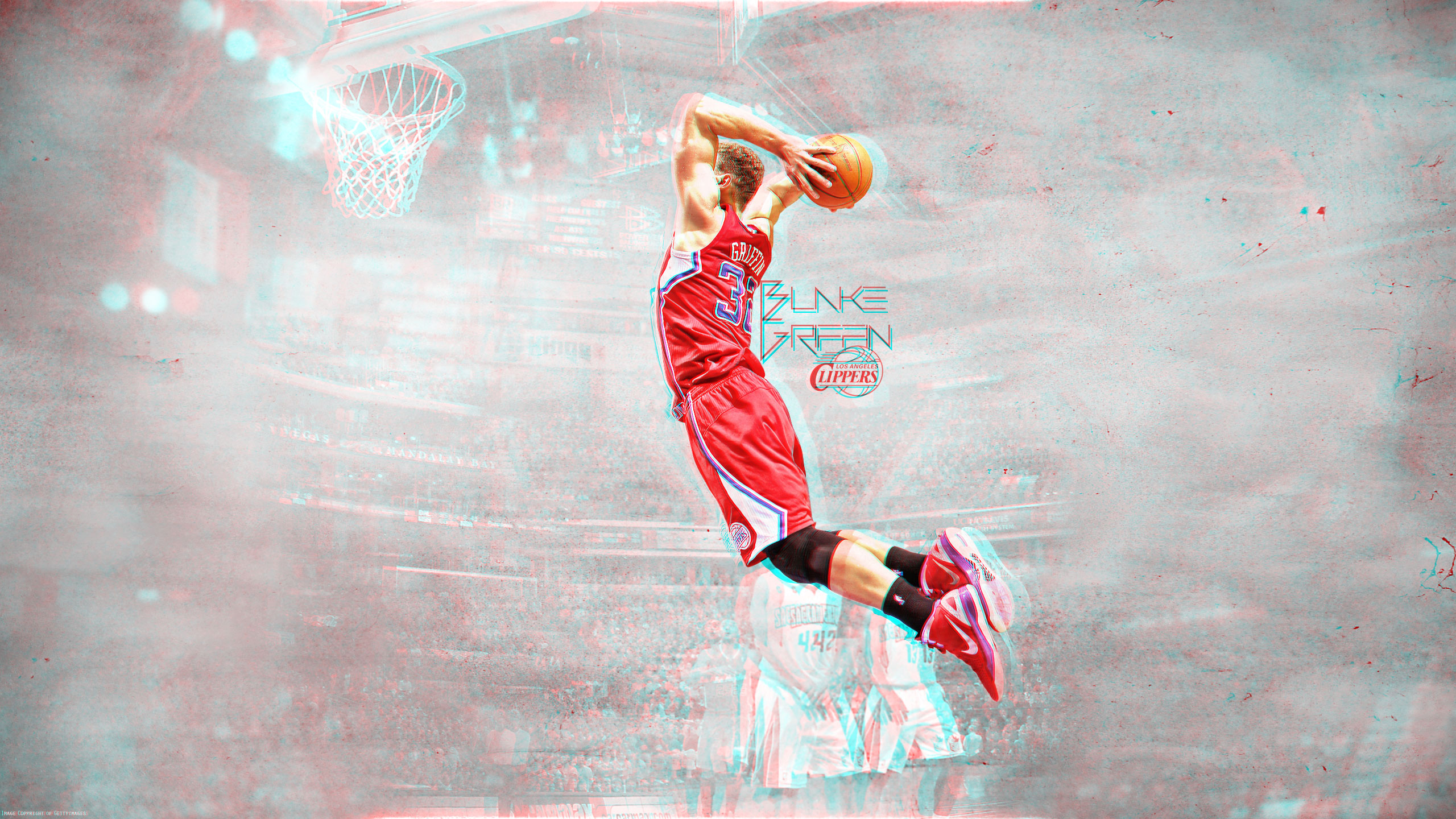 Blake griffin wallpapers basketball wallpapers at basketwallpapers blake griffin dunk 3d wallpaper voltagebd Image collections