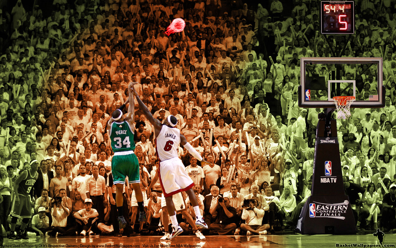 Pierce Over James 2012 East Finals Game 5 Wallpaper | Basketball Wallpapers at BasketWallpapers.com