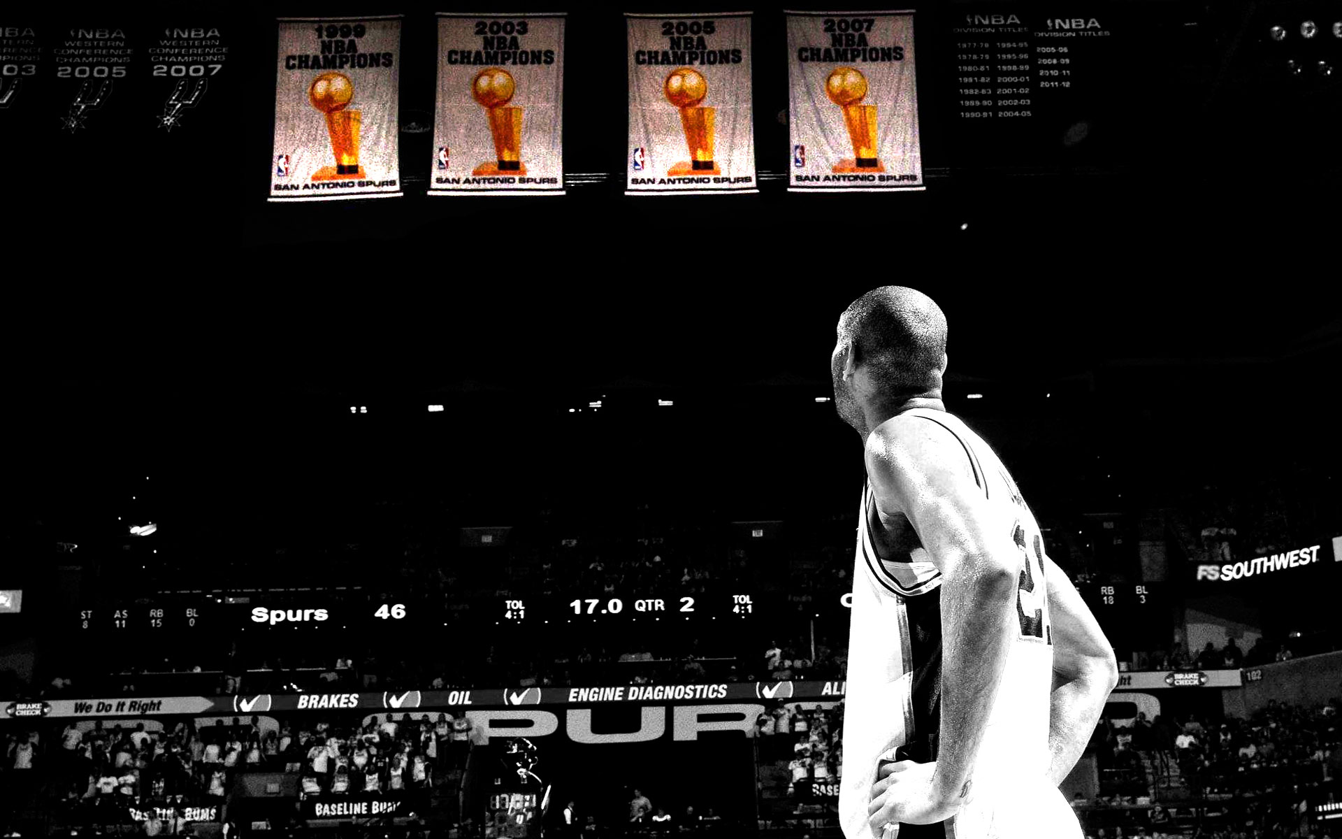 Tim duncan spurs championship banners 1920x1200 wallpaper - Tim duncan iphone wallpaper ...