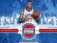 Andrew Bynum Philadelphia 76ers 2560x1440 Wallpaper
