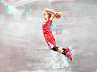 Blake Griffin Dunk 3D Wallpaper