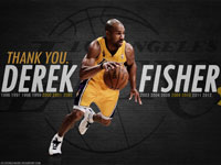 Derek Fisher Lakers Thank You 1920x1200 Wallpaper