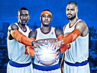 Knicks 2013 Big 3 2560x1440 Wallpaper