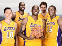 LA Lakers 2013 Starters Media Days 1440x900 Wallpaper