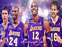 Los Angeles Lakers Big 4 2560x1440 Wallpaper