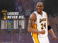 Lakers - Thunder 2012 NBA Playoffs 1920x1200 Wallpaper