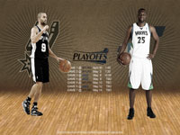 Spurs - Jazz 2012 NBA Playoffs 2560x1600 Wallpaper