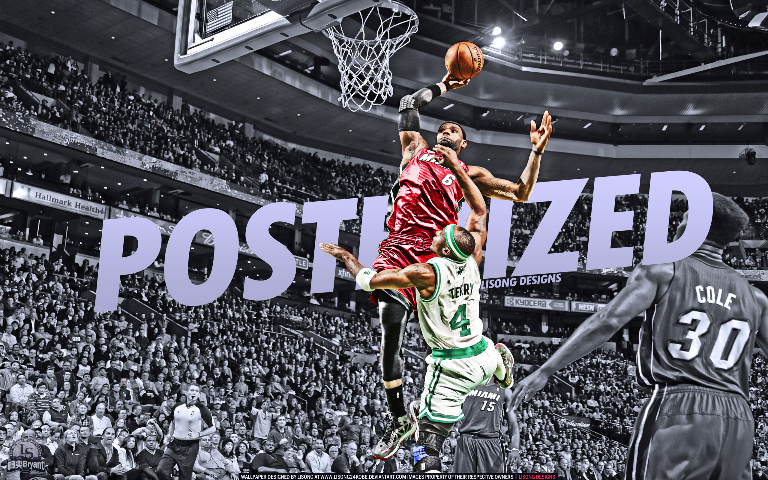 Lebron Dunk On Jason Terry Wallpaper
