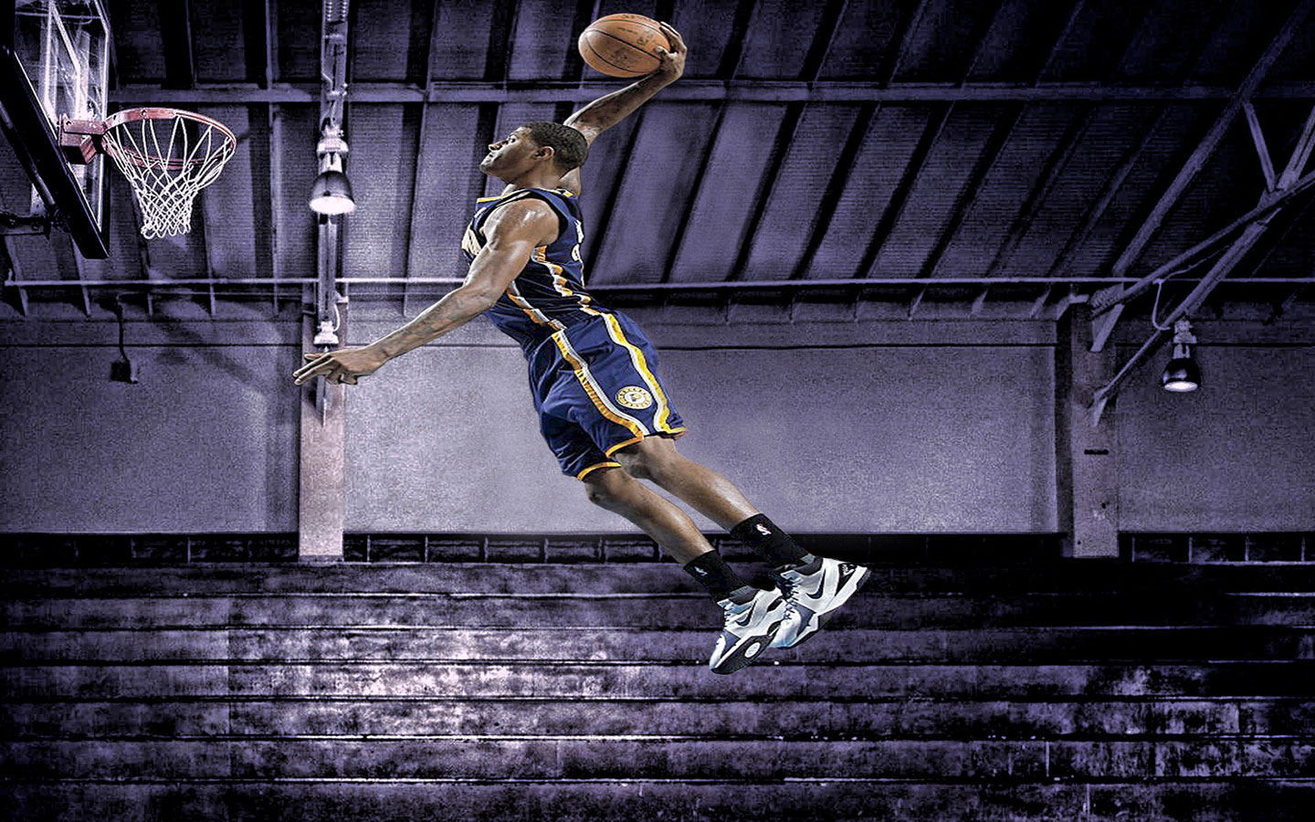 Paul George Pacers Dunk 1440 900 Wallpaper Basketball Wallpapers