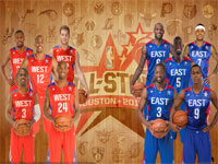 2013 NBA All-Star Starters 2560x1600 Wallpaper