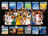 2013 NBA Calendar 2560x1600 Wallpaper