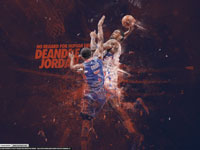 DeAndre Jordan over Brandon Knight 2013 2880x1800 Wallpaper