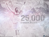 Dirk Nowitzki 25000 Career Points 1680x1050 Wallpaper