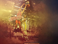 Jonas Valanciunas Dunk Over Paul George 1920x1200 Wallpaper