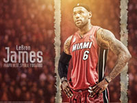 LeBron James Heat 6 1920x1200 Wallpaper
