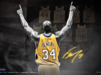 Shaq Lakers Number Retired 1920x1200 Wallpaper