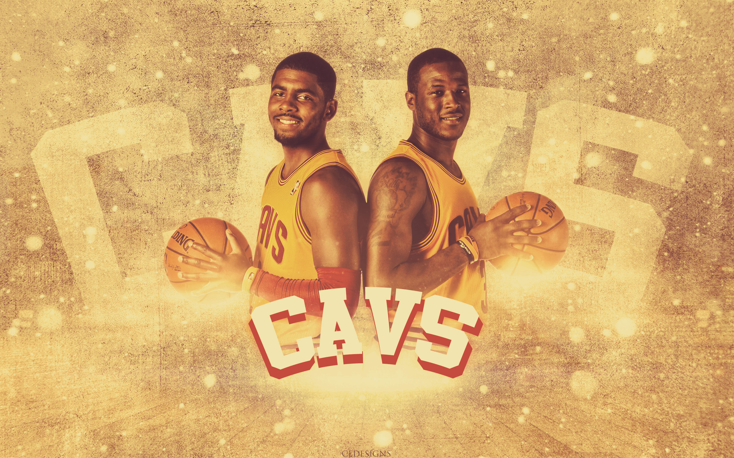 Hd wallpaper kyrie irving - Kyrie Irving And Dion Waiters Cavs 2560x1600 Wallpaper
