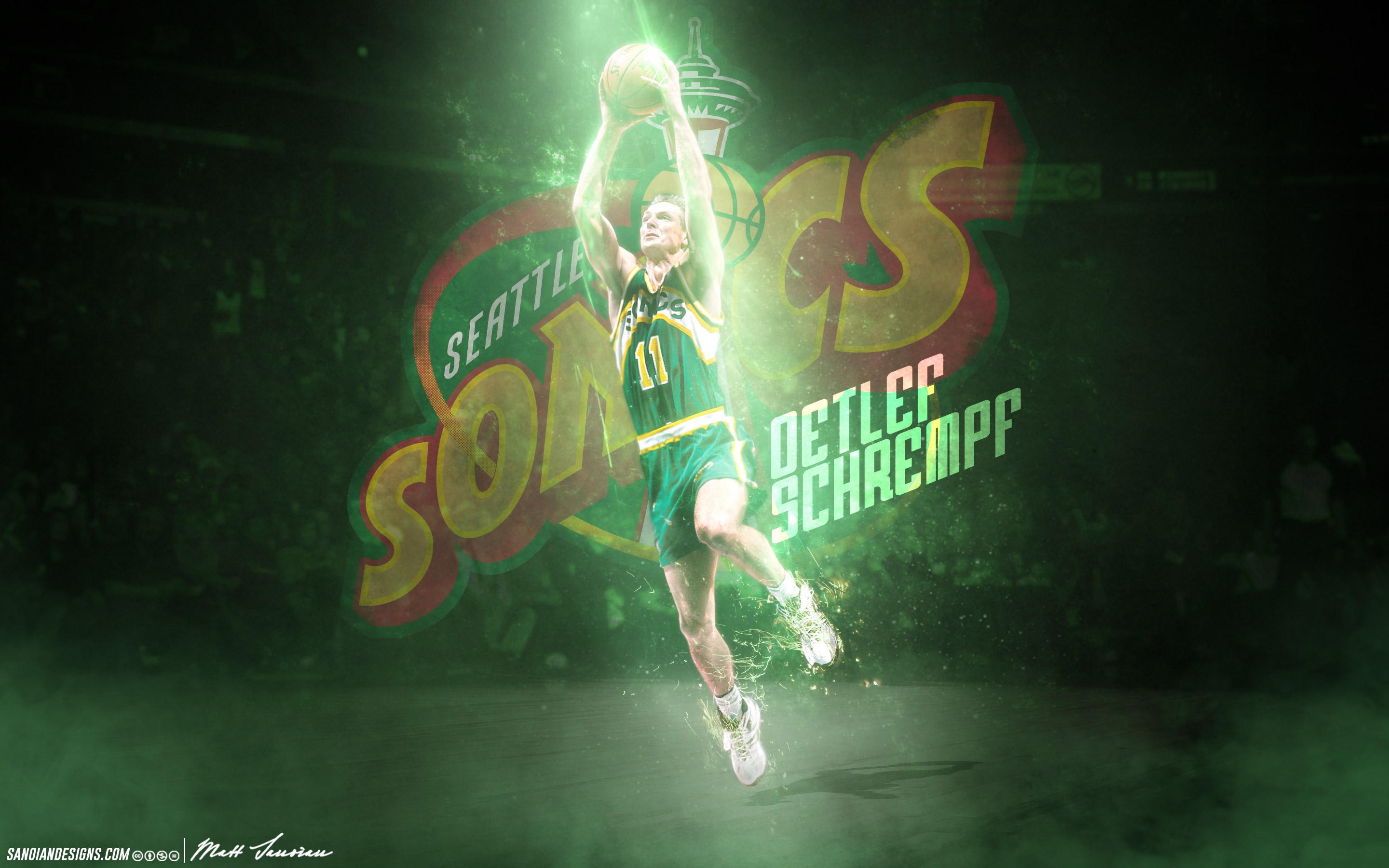 Detlef Schrempf SuperSonics 2880—1800 Wallpaper