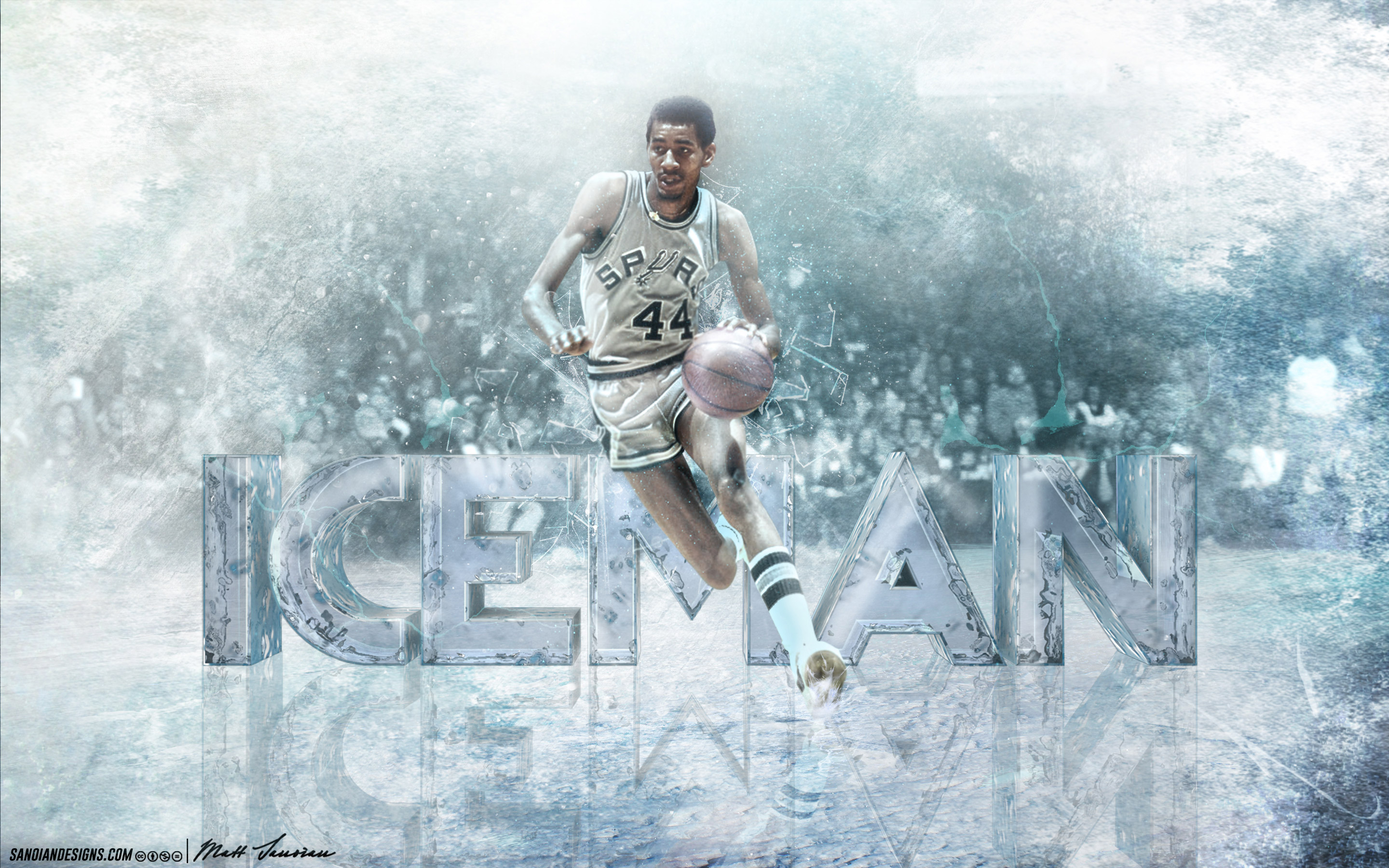 George Gervin Spurs 2880—1800 Wallpaper