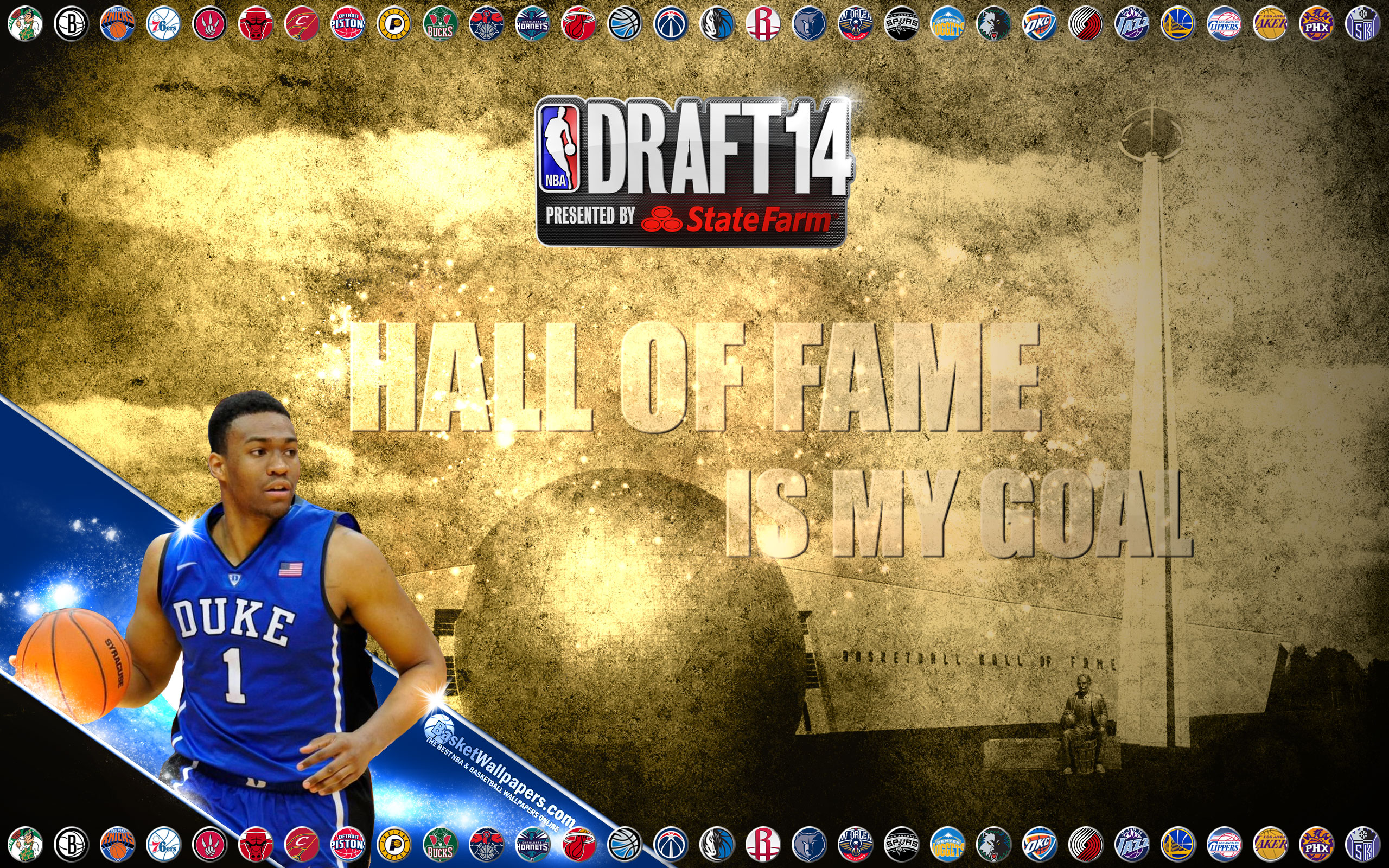 Jabari Parker 2014 NBA Draft Wallpaper | Basketball ... Jabari Parker Nba Draft