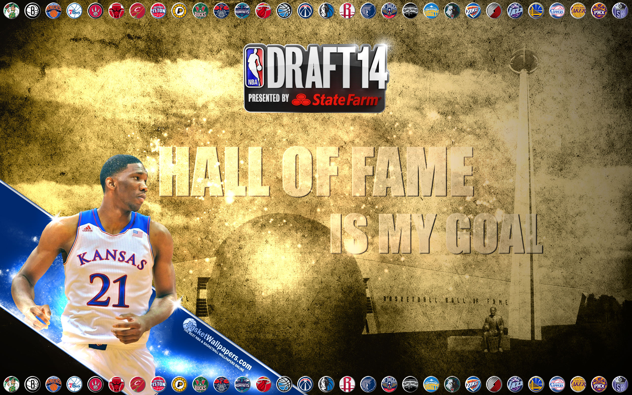 Joel Embiid 2014 Nba Draft Wallpaper Basketball Wallpapers