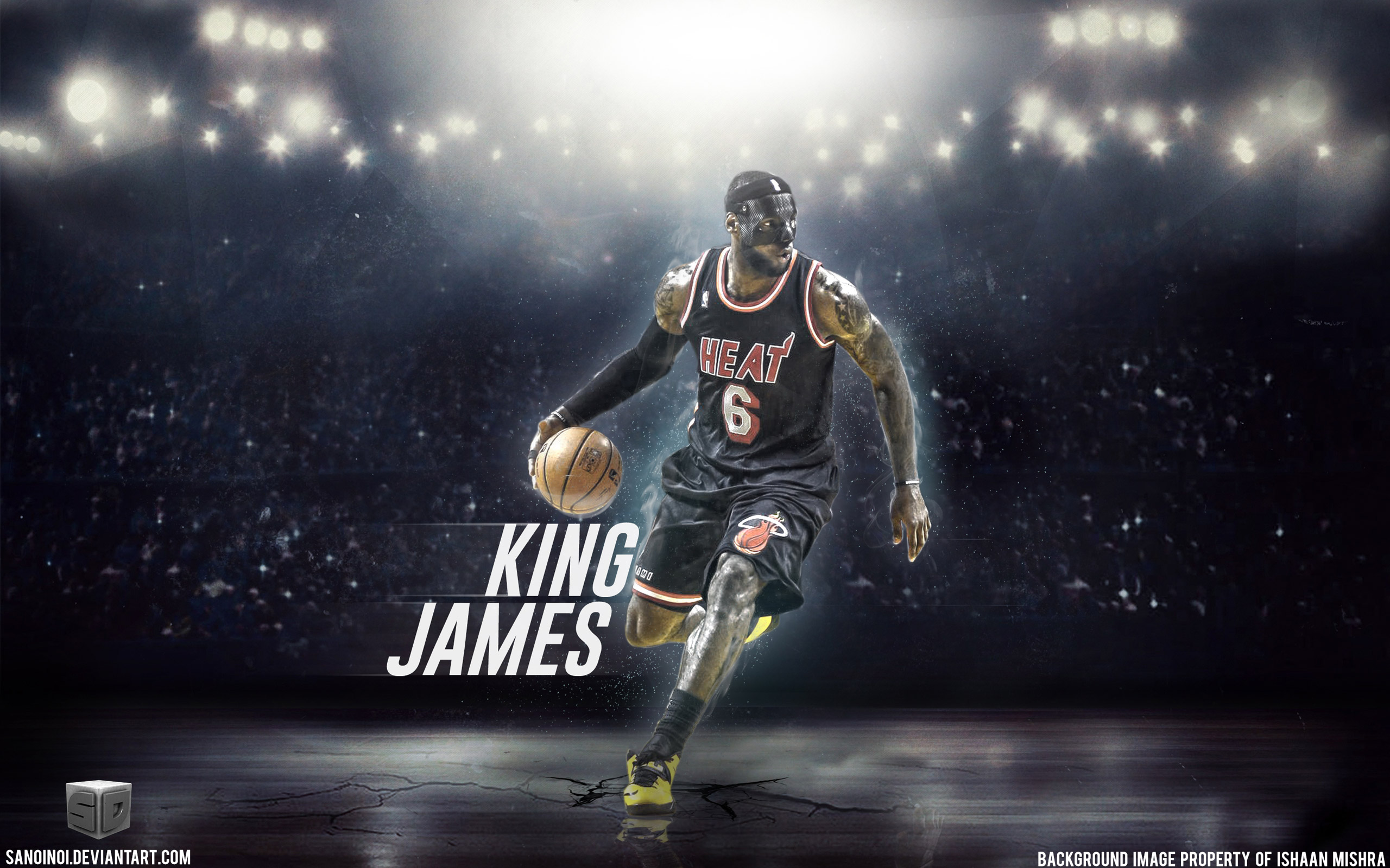 LeBron James Mask 2014 Wallpaper