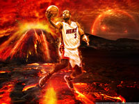 Dwyane Wade On Fire 2014 Wallpaper