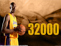 Kobe Bryant 32000 Points Wallpaper