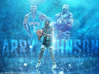Larry Johnson Charlotte Hornets 2880x1800 Wallpaper