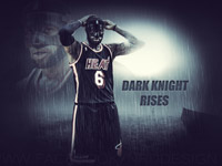 LeBron James Dark Knight Rises 2014 Wallpaper