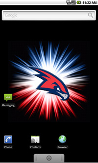 Atlanta Hawks Logo Live Android Wallpaper