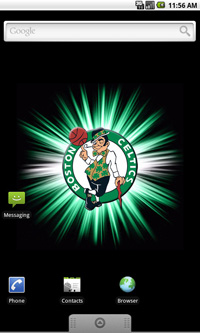Boston Celtics Logo Live Android Wallpaper