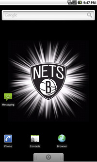 Brooklyn Nets Logo Live Android Wallpaper